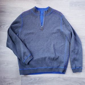 Tommy Bahama Reversible Half Zip Pullover